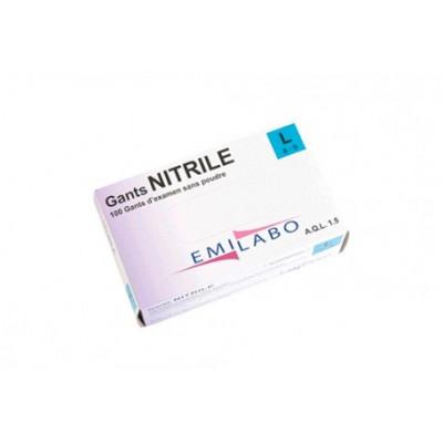 Gants d'examen nitrile - Sans poudre - Ambidextres