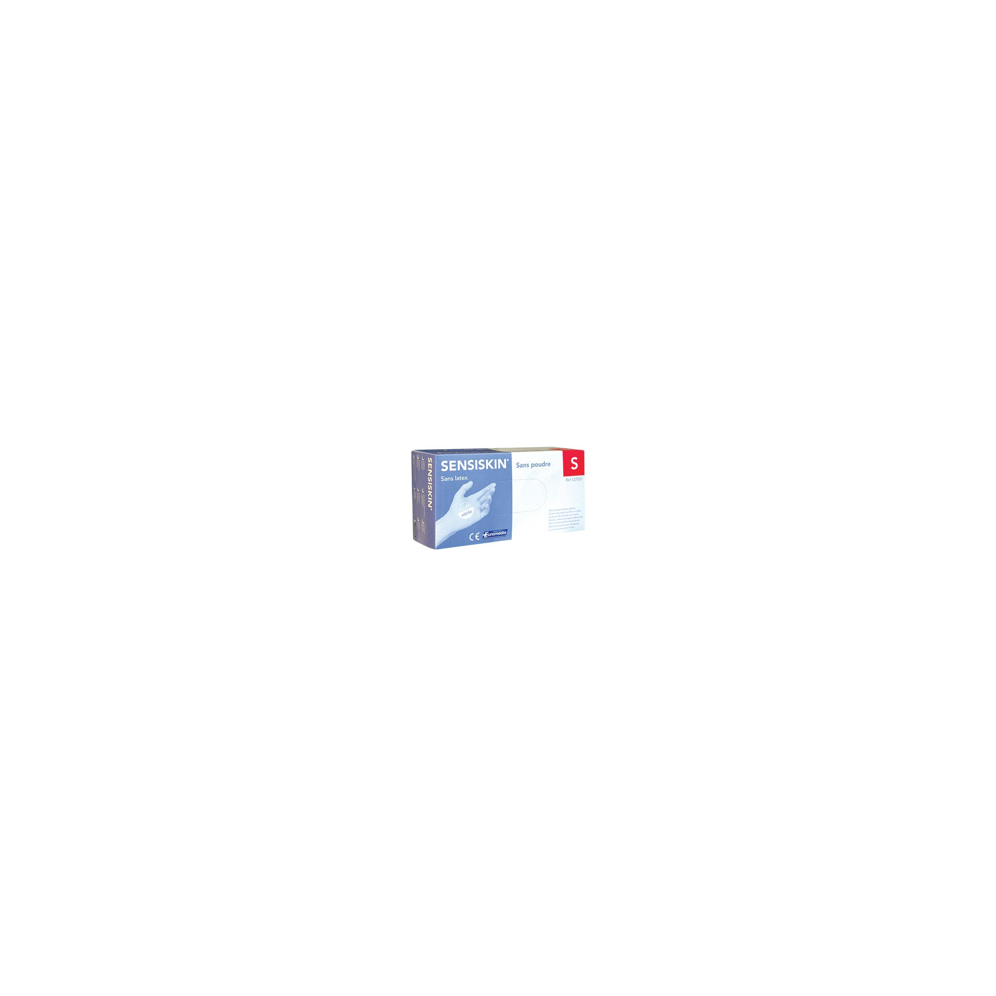 Gants d'examen - Nitrile - Sans poudre - Ambidextres - Boite de 100 - Sensiskin