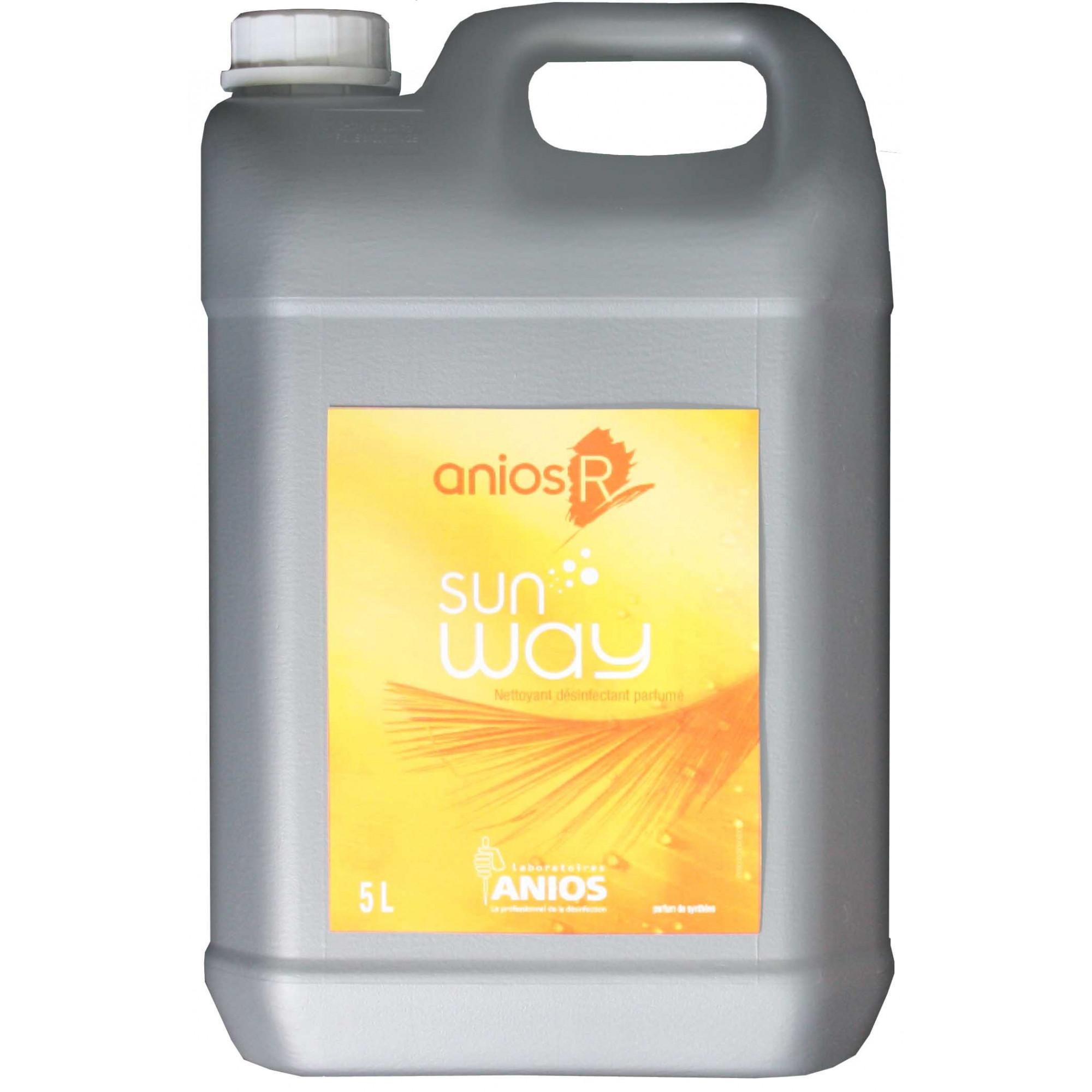 Nettoyant Sol et Surface Anios Désinfectant Parfumé Sun Way 5L Podologie