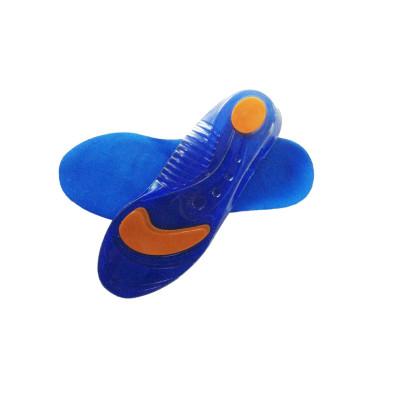 Paire de semelles en gel polymère - Absorption des impacts - Renfort métatarse et talon - Couleur bleue - 3 tailles disponibles