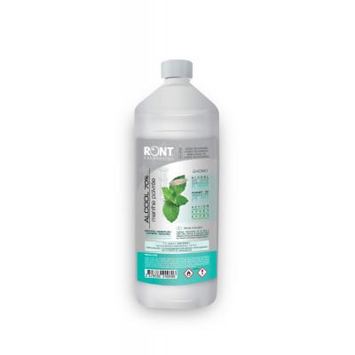 Alcool 70% parfumé menthe poivrée - 1000 ml - Ront