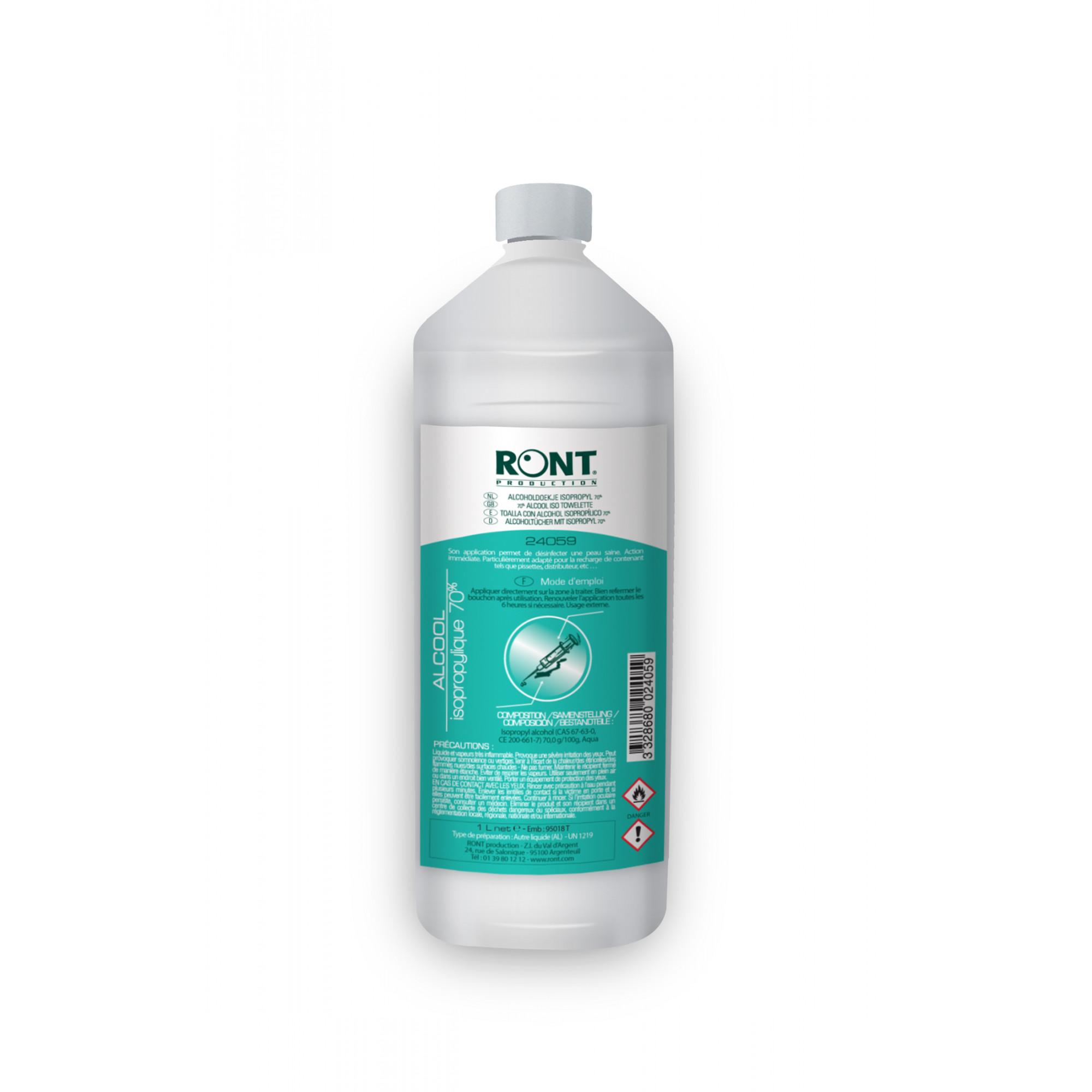 Alcool isopropylique 70% - 1 L - Ront