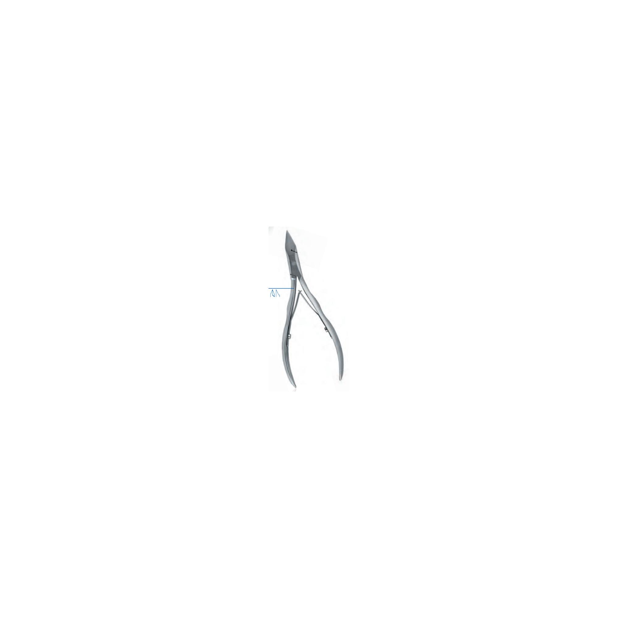 Pince à ongles - Coupe droite - Mors plats - 11,5 cm - Dovo