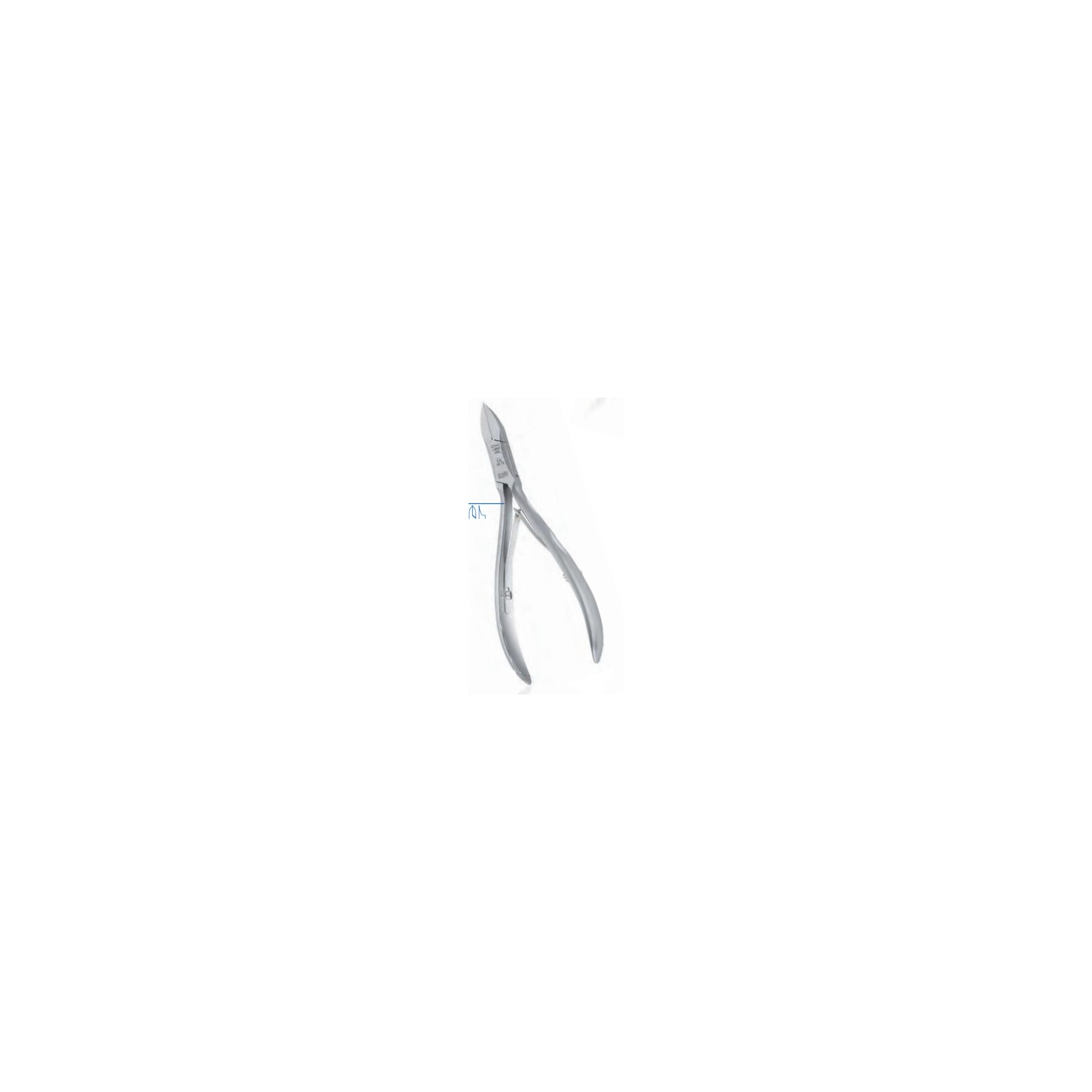 Pince à ongles - Coupe droite - Mors effilés - 11,5 cm - Dovo