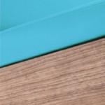 Fauteuil de pédicurie - MOON MASTER - Turquoise - Dossier noyer - Ruck