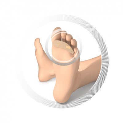 Protection pour orteils - Rembourrage en mousse souple recouvert de cuir - 3 tailles disponibles - 5 pièces - Ruck