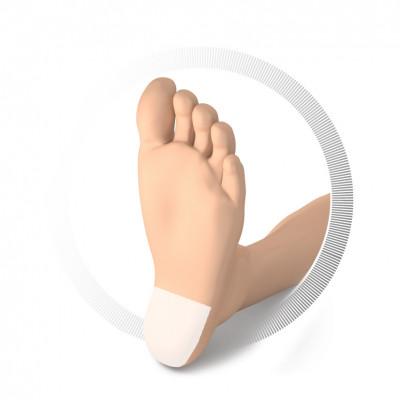 Protection pour talon auto-adhésive - Mousse de caoutchouc et texon - Idéal pour la marche et la course à pied - 3 tailles dispo