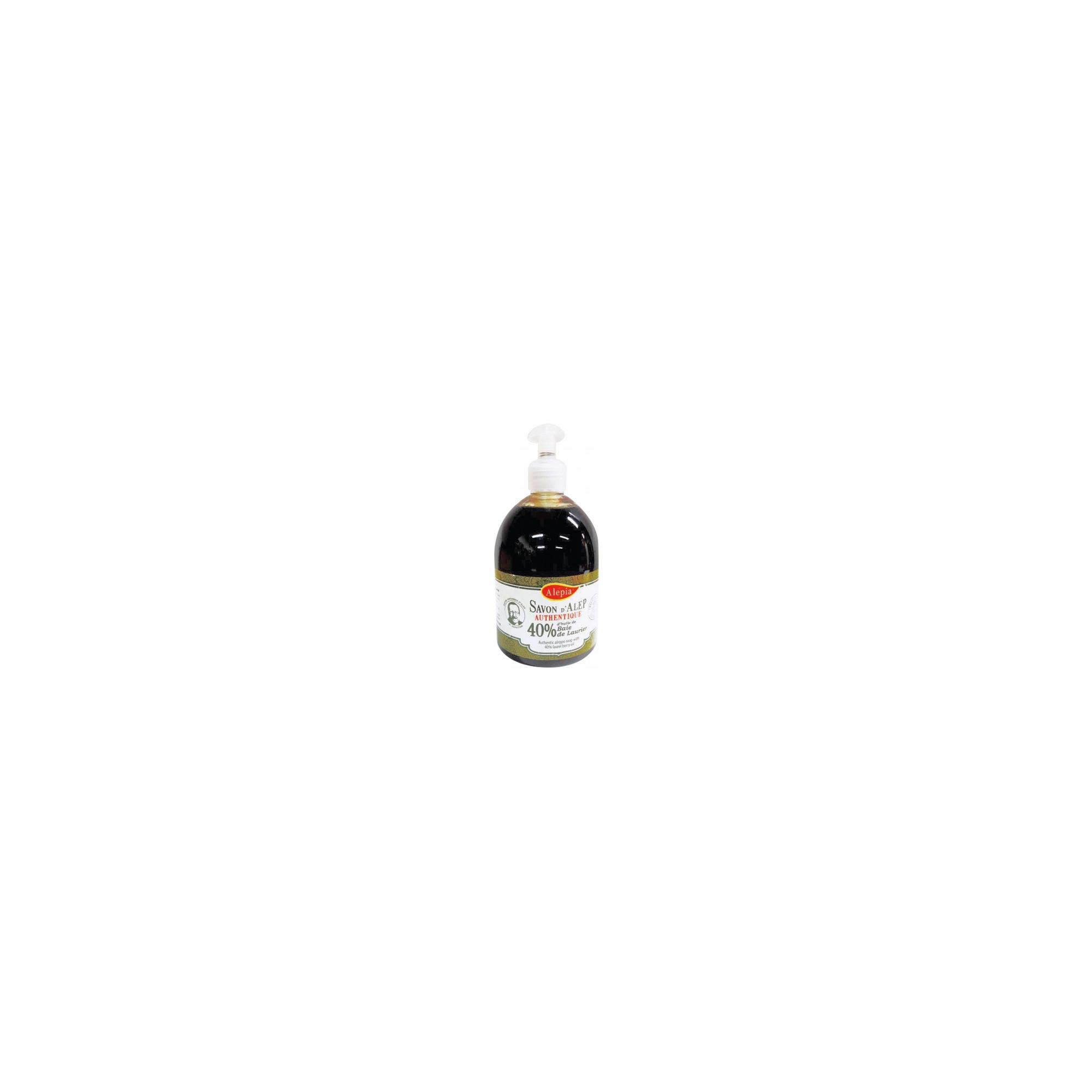 Pouss'Savon liquide d'Alep Authentique 40% de Laurier - 500 mL - Alépia