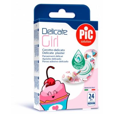 Pansement delicate Kids pour fille - Cupcakes - 24 pansements - 7,2 x 1,9 cm