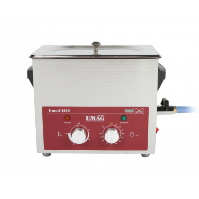 Nettoyeur à ultrasons tout en inox 3L - Emmi-H30 avec robinet de vidange