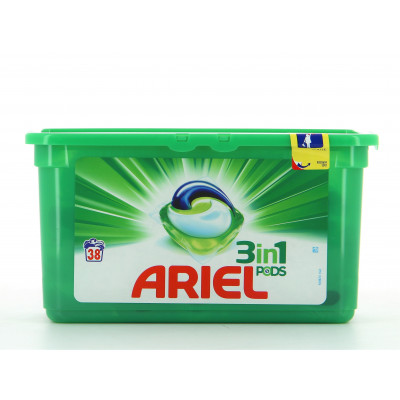 Lessive - Ariel Original - 3 in 1 PODS - 38 lavages