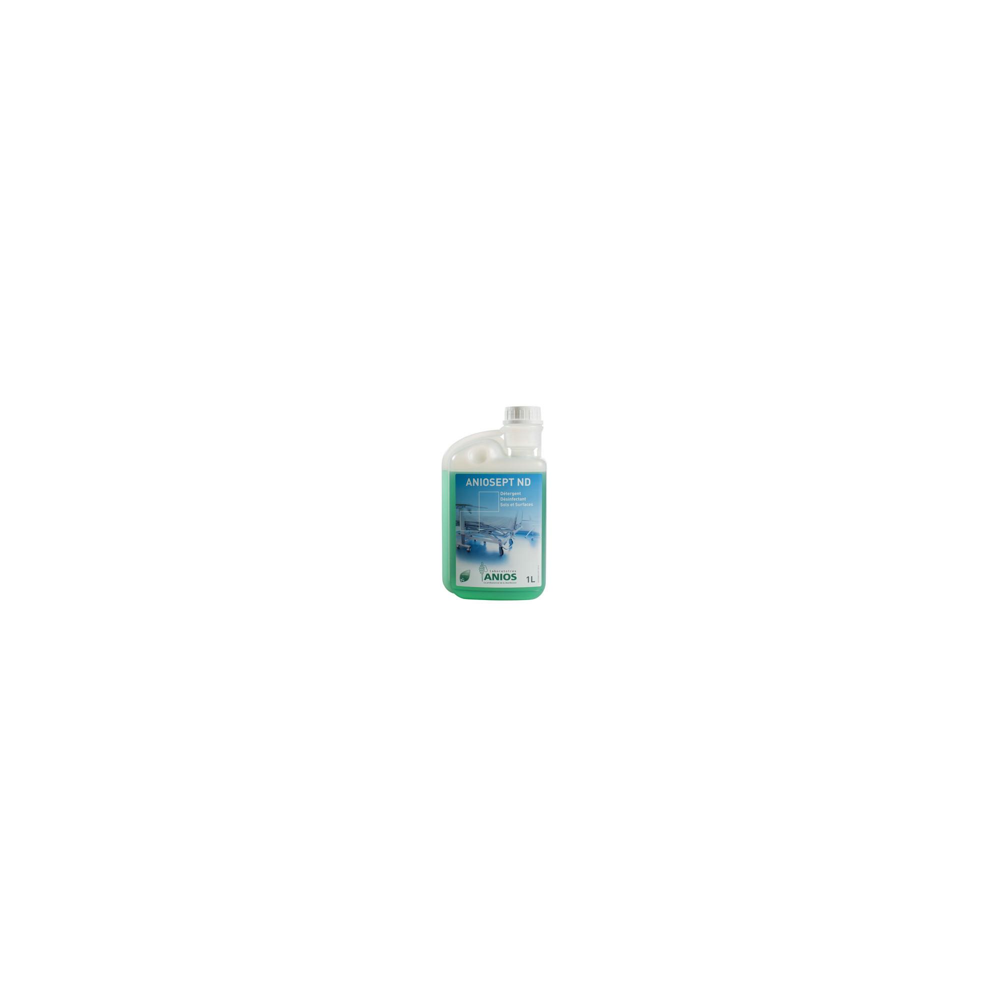 Aniosept ND - Sols et Surfaces - Nettoyage et désinfection des sols, murs et matériel médical - 1L - Anios
