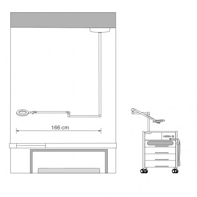 Lampe loupe intégrée - Circle XL Air - White Edition - Ruck