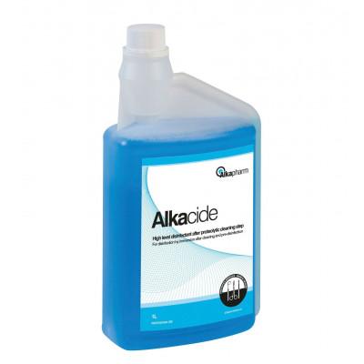 Alkacide - Désinfectant final à froid - Flacon doseur - 1 L - Alkapharm