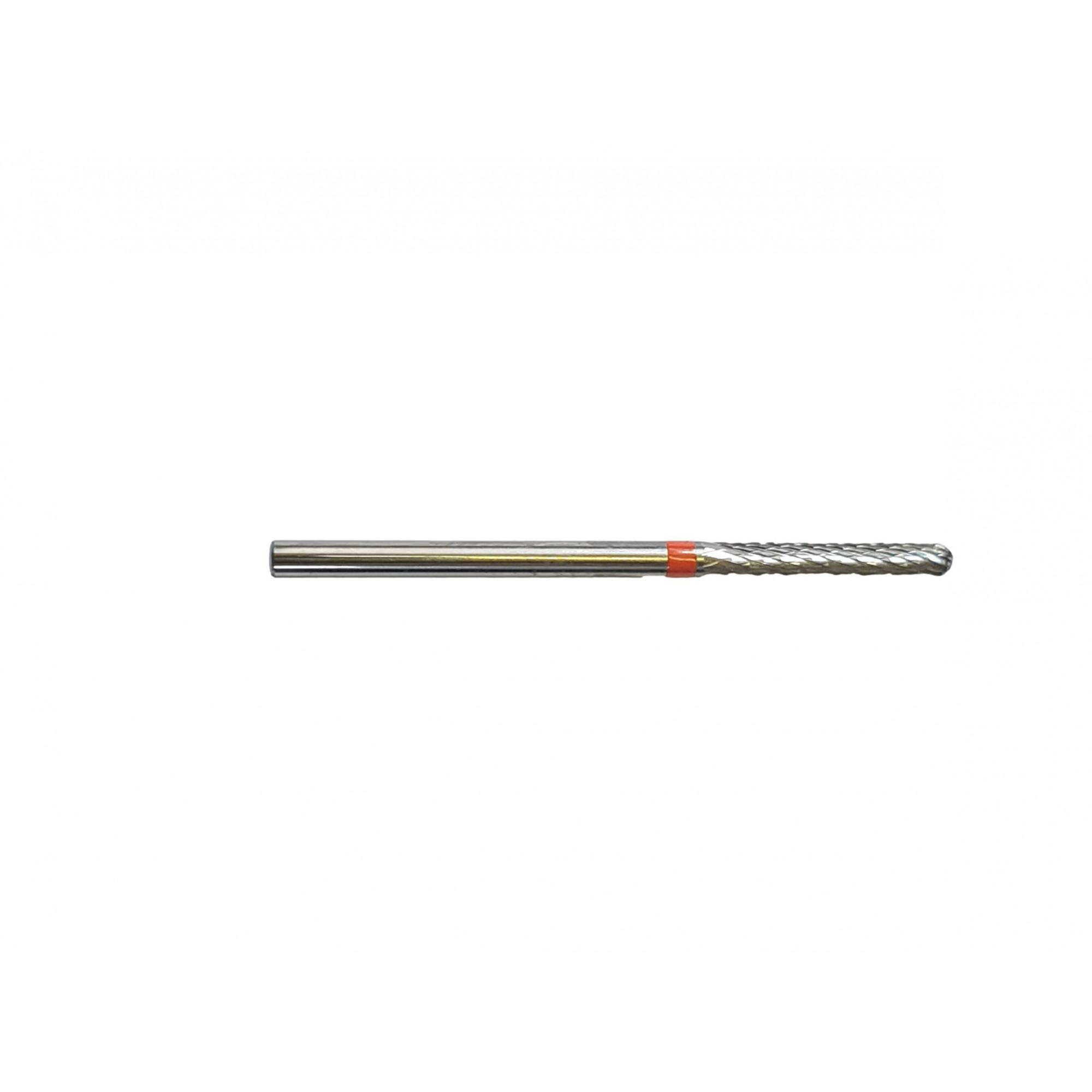 Fraise E0220 Carbure de tungstène - Abrasion et finition des ongles fins - Denture croisée fine - Forme droite - 2,3 mm