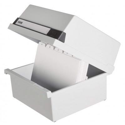 Boîte à fiches pour env. 800 fiches - A5 orentation paysage - Gris clair - Ruck