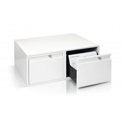 Caisse de rangement - Acier - Blanc pur - Ruck