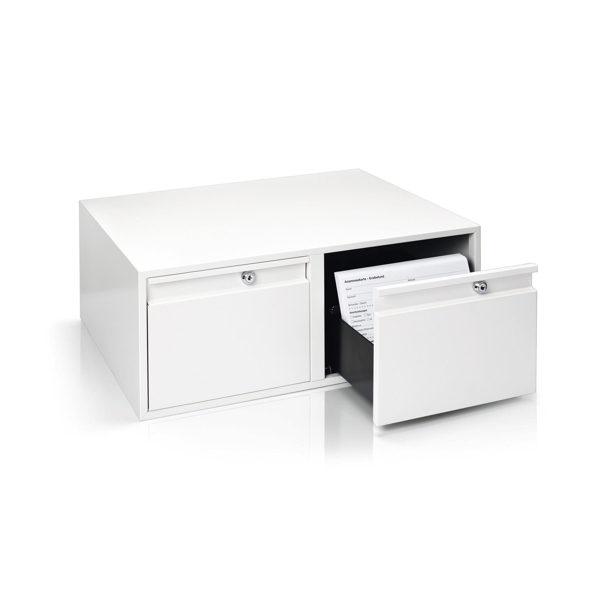 caisse de rangement acier blanc pur ruck my podologie. Black Bedroom Furniture Sets. Home Design Ideas