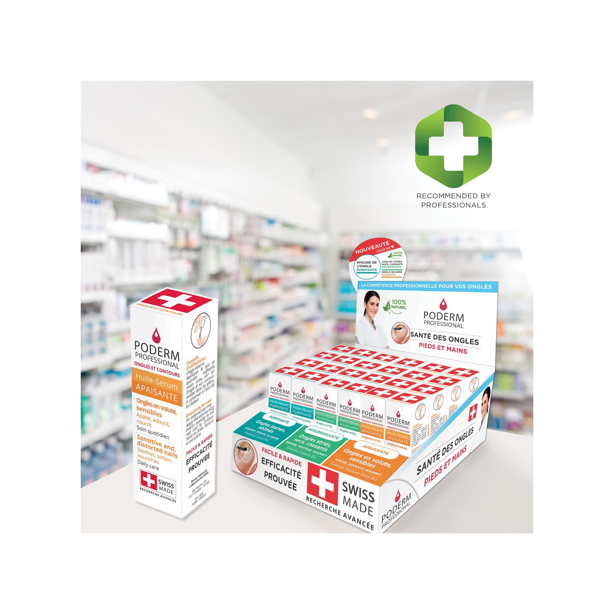 Présentoir complet comprenant 3 soins - 30 pièces - Poderm Professional