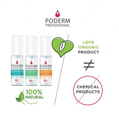 Présentoir complet comprenant 3 soins - 30 pièces - 8 ml - Application au pinceau - Poderm Professional