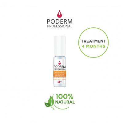 Traitement pour ongles incarnés, peaux dures - 8 ml - Application au pinceau - Poderm Professional