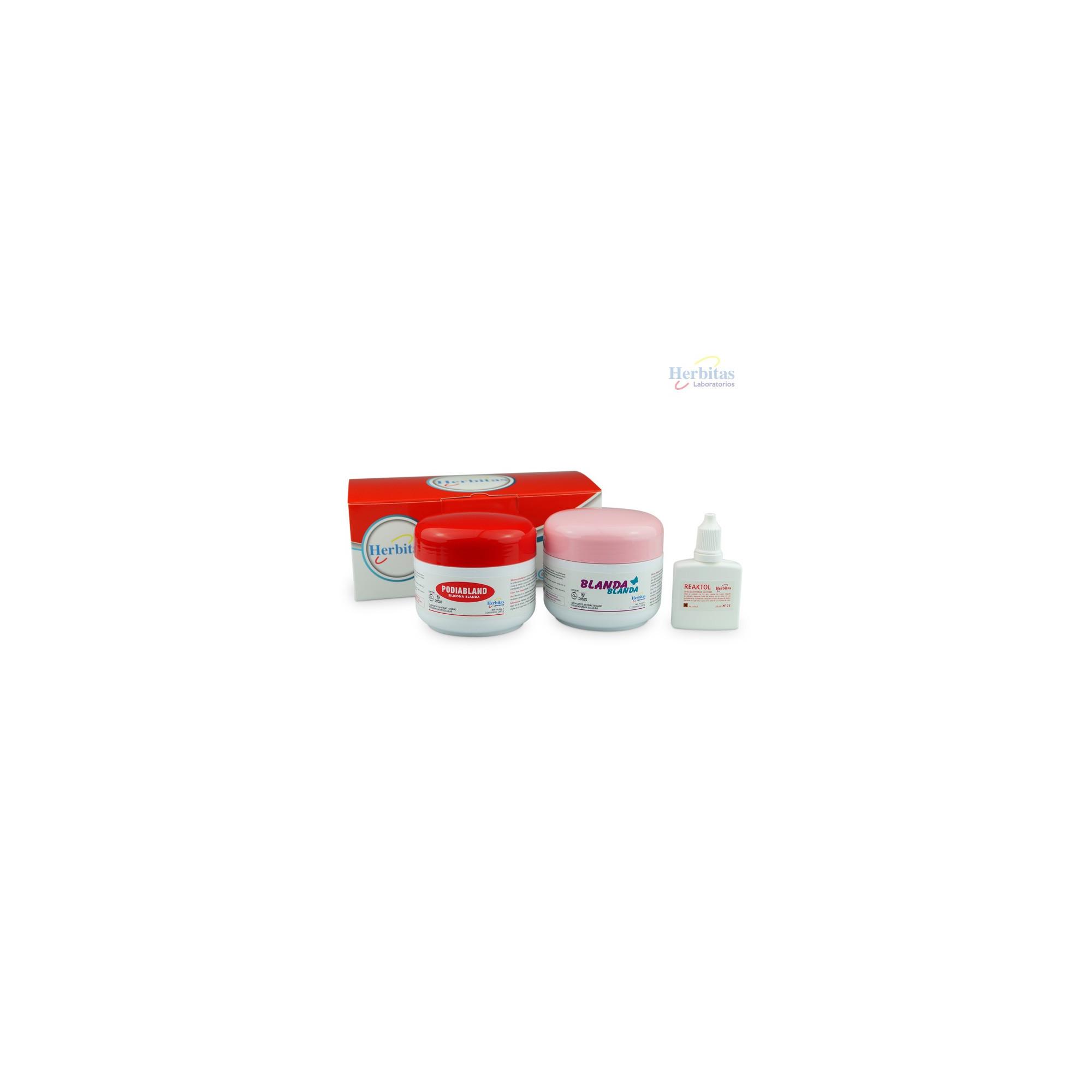 Kit 200g Basique Herbitas Silicone Blanda Blanda 200g + Podiabland 200g + Reaktol Celerix