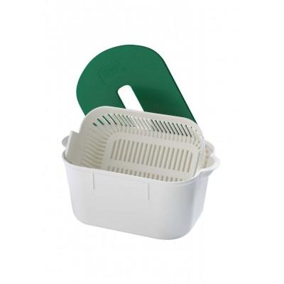 Bacs de décontamination et brosses